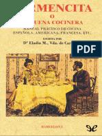 Carpinell, Eladia M. Vda. de - Carmencita o La Buena Cocinera [3748] (r1.2)