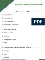 MCQ on Java Programming Language Fundamental