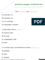 MCQ on Java Programming Language Fundamental