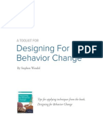 Designing Behavior Change