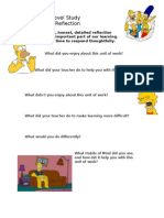 English - Yr 8 - Unit 2 - Reflection - The Simpsons