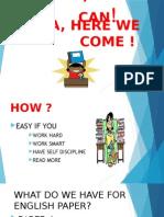 English Presentation for Upsr 2015 Parents and Teachers