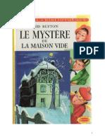 Blyton Enid Série Mystère Détectives 3 Le mystère de la maison vide 1945 The Mystery of the Secret Room.doc