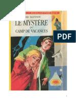 Blyton Enid Série Mystère Détectives 9 Le mystère du camp de vacances 1951 The Mystery of the Vanished Prince.doc