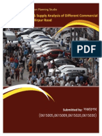 Parking Demand Supply Analysis Ofdifferent Commerciall and Uses Along Mirpur Road-131127200452-Phpapp01