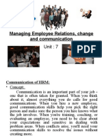 Unit 7 Managing Employee Relation and Change