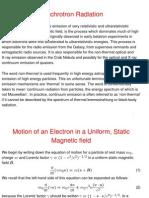 Synchrotron Radiation