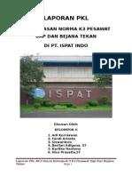 Laporan PKL AK3 Umum.Bejana Tekan Dan Mesin Uap di PT Ispatindo