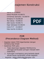Tugas Manajemen Konstruksi PDM