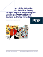 Valuation Practices Research Paper SAMPLE