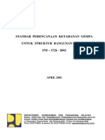 SNI 03-1726-2002 - Standar Perencanaan Tahan Gempa Untuk Bangunan Gedung
