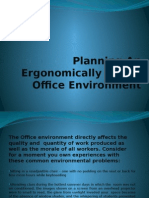 Planning an Ergonomically Sound Office Environment