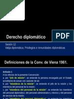 Derecho diplomático 12 - Régimen de inmunidades.ppt