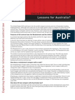 United States Contract Law Lessons for Australia