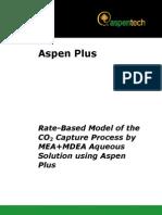 Rate Based MEA MDEA Model
