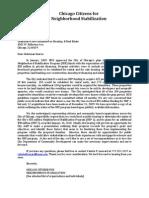 Letter to Alderman Suarez
