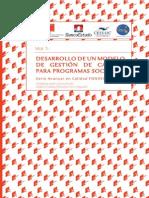 desarrollo de un modelo de calidad  para programas sociales