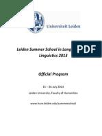 Official Program 2013-1