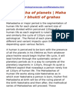 Mahadasha of Planets