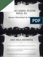 Ang Pag-Aaral Ni Jose Rizal Sa Ateneo