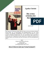 Christie, Agatha - Die Ersten Arbeiten Des Herkules