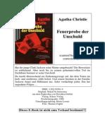 Christie, Agatha - Feuerprobe Der Unschuld