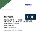 Mejoramiento Talud Mediante Geotextil