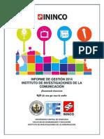Informe de Gestión 2014 del Instituto de Investigaciones de la Comunicación (ININCO) de la Universidad Central de Venezuela (UCV) 15 Enero 2015.pdf