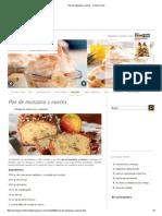 Pan de Manzana y Nueces - Cocina y Vino