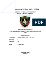 La Ley de Proteccion Intelectual en La Policia Nacional Del Peru