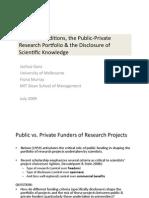 Funding Conditions and Public Private Research Portfolio