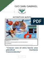 MATEMATICAS 5° - 2015