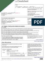 Google Analytics Cheatsheet (from Conversation Marketing)