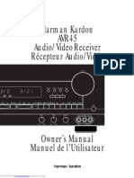 Manual Harman Kardon AVR 45 RDS