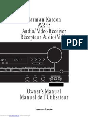 Manual Harman Kardon AVR 45 RDS   Loudspeaker   Audio Electronics