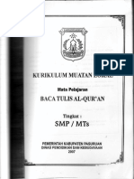 Kurikulum BTQ SMP & SMA/SMK Kabupaten Pasuruan