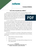 d He Technical Bulletin