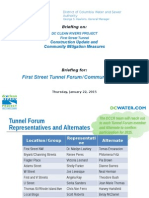 DC Water 1st St Tunnel Forum 2015 01 22