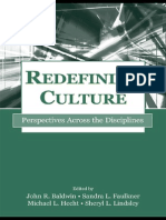 Redefining Culture Perspectives Across the Disciplines