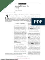 Laboratory Finding of Deficiency B12 Vitamin