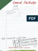 EBSS Recruitment Package 2010