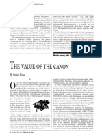 The Value of the Canon