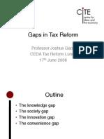 Gaps in Tax Reform