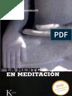Krishnamurti Jiddu - La Mente en Meditacion