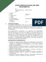 1° PROGRAMACIÓN CURRICULAR ANUAL DEL ÁREA DE MATEMÁTICA EN LAS RUTAS DEL APRENDIZAJE 2014.doc