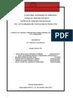 Informe Final Centro Comunitario MOD-1 Proyectos 2014