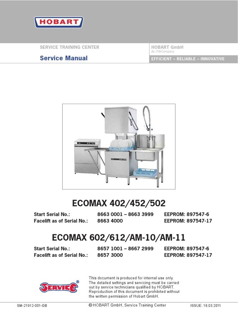 Ecomax402502602 Service Manual | Pump | Nature