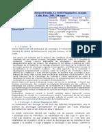 Fiche de Lecture La Société Singulariste - Danilo Martuccelli