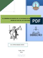 El Embargo de Bienes de La Sociedad de Gananciales Por Deuda de Uno de Los Cónyuges.