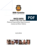 OOIDA Foundation Analysis of the Volpe Report